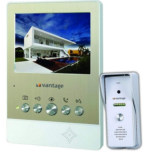 "Vantage Singe Bell|5"" Video Door Phone"